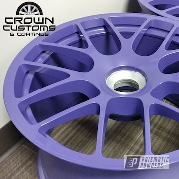 Porsche Center Locks Wheels Done In Vintage Purple With Matt Clear Top Coat