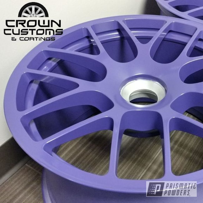 Porsche Center Locks Wheels Done In Vintage Purple With Matt Clear Top Coat