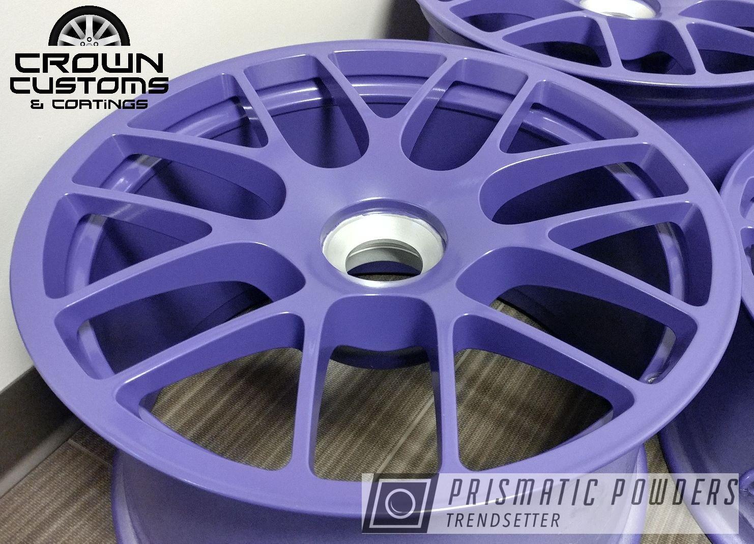 Powder Coating: Wheels,Automotive,Porsche Wheels,Matt Clear PPB-4509,Matte Clear Top Coat,Vintage Purple PSB-6756