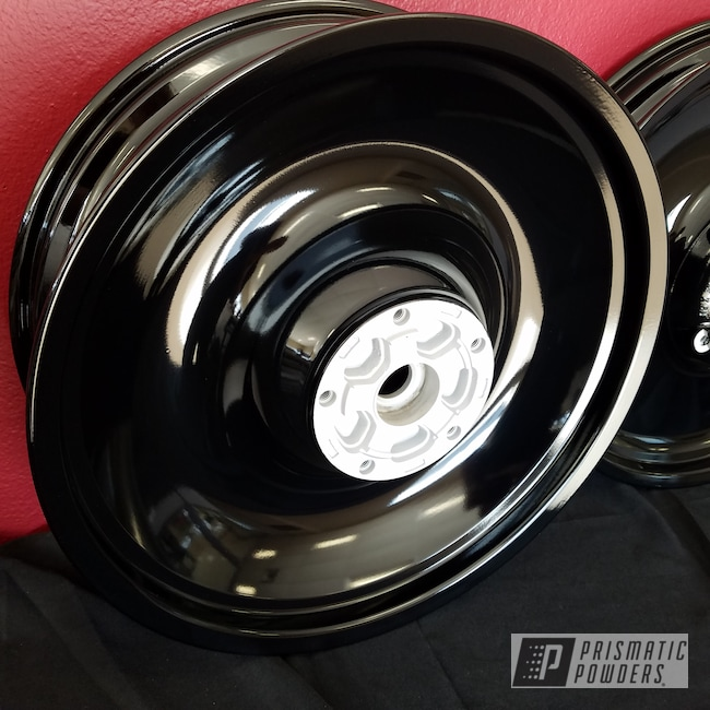 Powder Coating: Wheels,Ink Black PSS-0106,Motorcycles