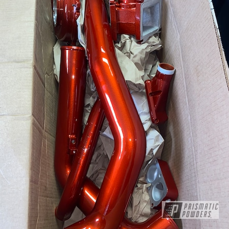 Powder Coating: Illusion Copper PMS-4622,Clear Vision PPS-2974,Intake Pipes,Pipes,2 stage