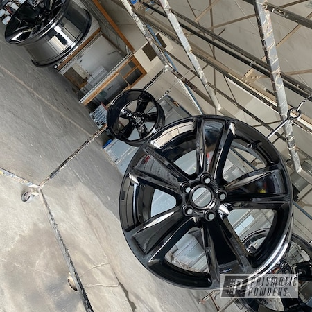 """Powder Coating: Wheels,Rims,GLOSS BLACK USS-2603,18"""" Aluminum Rims"""