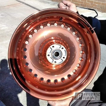 Harley Davidson Wheels Coated In Trans Copper Ii