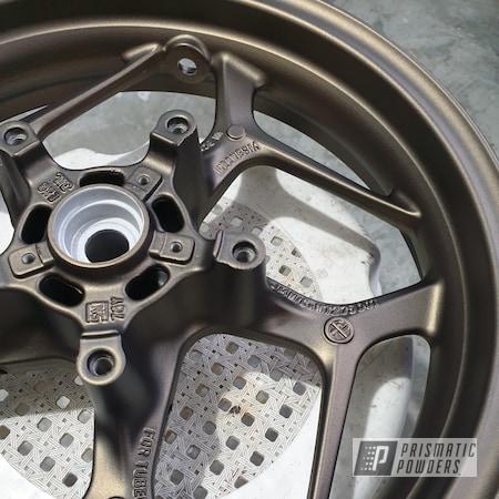 Powder Coating: Motorcycle Wheel,Bronze Chrome PMB-4124,Casper Clear PPS-4005