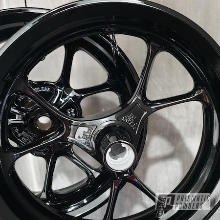 Powder Coating: Motorcycle Rims,Ink Black PSS-0106,Motorcycle Wheels