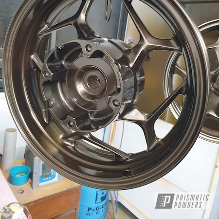 Powder Coating: Wheels,Motorcycle Rims,Rims,Bronze Chrome PMB-4124,Motorcycle Wheels