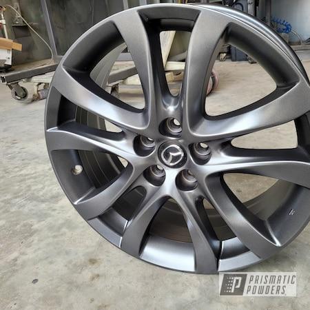 "Powder Coating: Wheels,Alloy Wheels,Graphite Charcoal PMB-5458,Custom Wheels,Rims,17"" Aluminum Rims,Mazda"