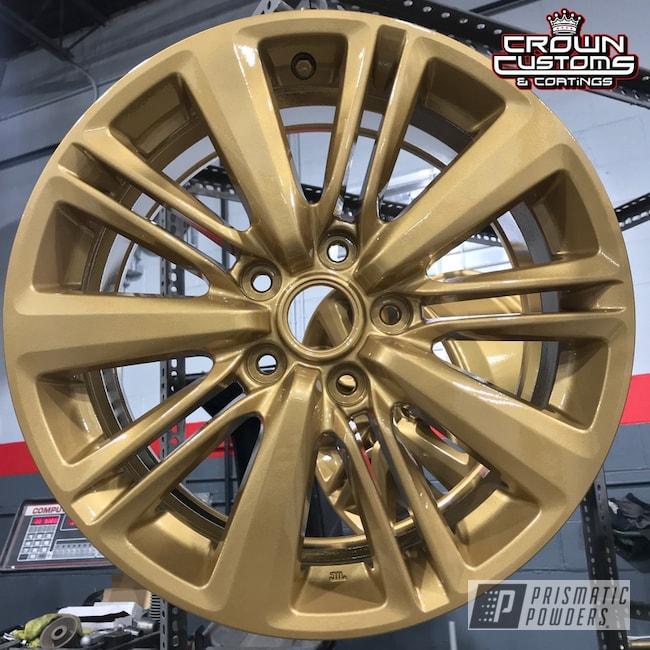 Powder Coating: Wheels,Automotive,Clear Vision PPS-2974,Prismatic Gold HMB-4137