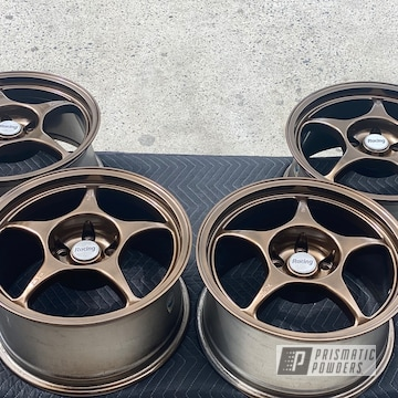 Powder Coated Wheels In Ppb-4509 And Pmb-4124