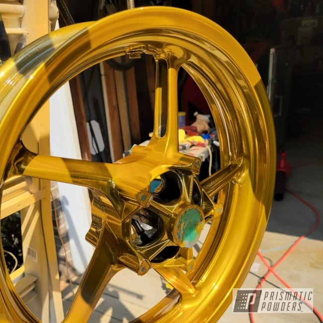Powder Coated Motorcycle Wheel In Pps-2974, Ums-10671 And Pps-6530