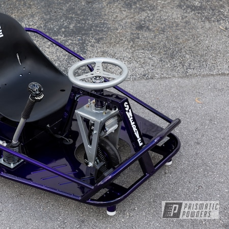 Powder Coating: Drift Cart,Clear Vision PPS-2974,Taxi Garage Crazy Cart,Taxi Garage,Two Tone,Crazy Cart,Alien Silver PMS-2569,Illusion Royal PMS-6925,Cart,Go Cart,Two Toned