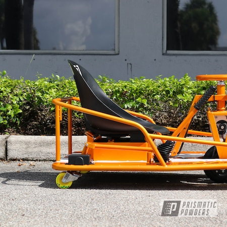 Powder Coating: Drift Cart,Clear Vision PPS-2974,Taxi Garage Crazy Cart,Taxi Garage,Crazy Cart,Cart,Go Cart,Illusion Orange PMS-4620