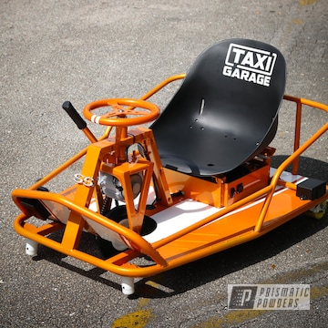 Powder Coated Crazy Cart In Pms-4620 And Pps-2974