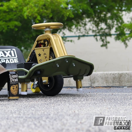 Powder Coating: Drift Cart,Taxi Garage Crazy Cart,Taxi Garage,Two Tone,Crazy Cart,Army Green PSB-4944,Spanish Gold EMS-0940,Cart,Go Cart,Two Toned
