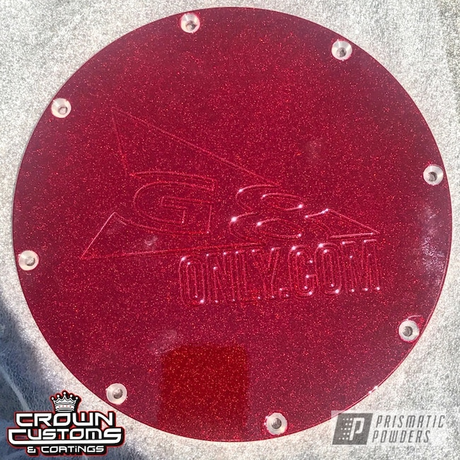 Powder Coating: Pontiac G8,Fuel Panel,Clear Vision PPS-2974,Illusion Cherry PMB-6905,Fuel Cover