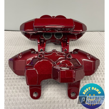 Powder Coating: Automotive,Calipers,Clear Vision PPS-2974,Illusion Cherry PMB-6905