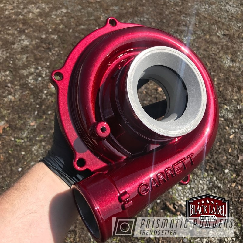 Turbo Housing coated in Illusion Cherry and a Clear Vision Top Coat
