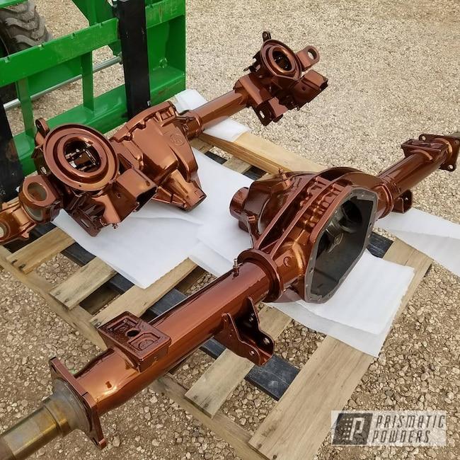 Powder Coating: Automotive,Transparent Copper PPS-5162,SUPER CHROME USS-4482,Two Stage Application,axles,Axle Parts
