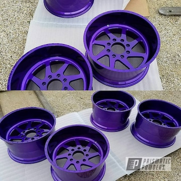 Powder Coated Purple 22 Inch Wheels