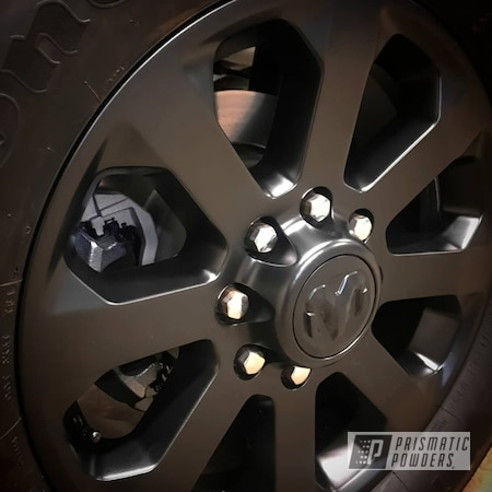 "Powder Coating: Wheels,Stone Black PSS-1168,20"" Wheels,Rims,Ram"