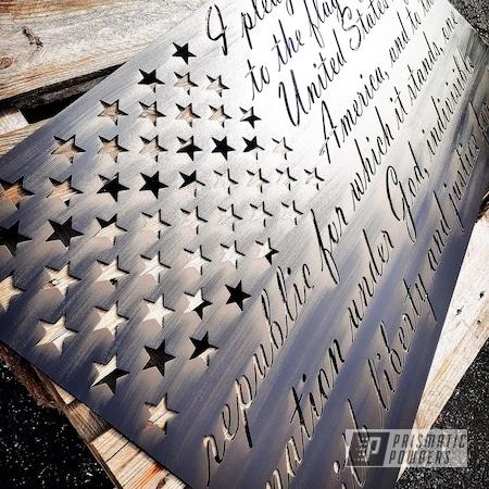Powder Coating: Metal Art,Stone Black PSS-1168,Bronze Metallic PMB-4108,American Flag,Flat Trans Black PPB-6470,Flag,American