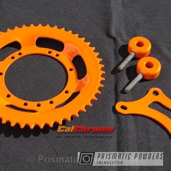 Powder Coating: Single Powder Application,Custom,Motorcycle Parts and Frame,Motorcycles,Solid Tone,Juju Orange PSS-1791