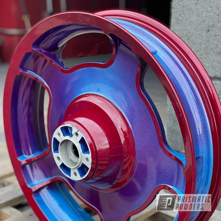 """Powder Coating: Wheels,18"""",Custom Wheels,Color Fade,2 Tone,Illusion Lite Blue PMS-4621,Two Tone Wheels,Fade,Two Toned,Clear Vision PPS-2974,Rims,Illusion Cherry PMB-6905,Two Tone,Illusions"""