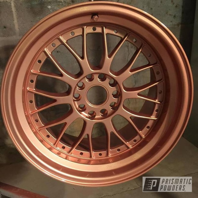Custom Wheels Coated In Illusion Rose Gold With A Clear Vision Top Coat
