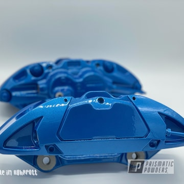 Powder Coated Brake Calipers In Pps-2974 And Pms-4621