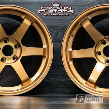 Wheels Done In Illusion True Copper & Clear Vision Top Coat