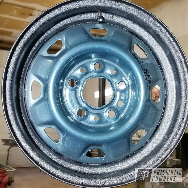 Powder Coating: Pastel Blue Sparkle-(Disct) PPB-4731,SUPER CHROME USS-4482,Rims,Desert Grey PWB-2775