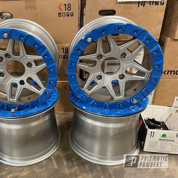 Powder Coated Two Tone Wheels In Hss-2345 And Psb-10636