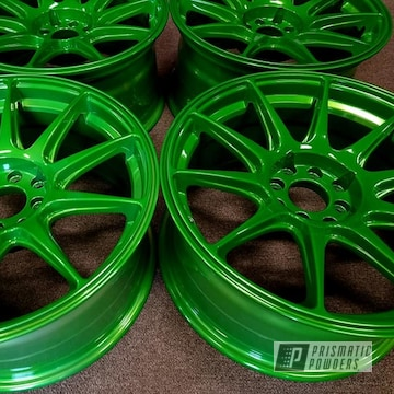 Powder Coated Wheels In Ums-10671 And Ppb-2448