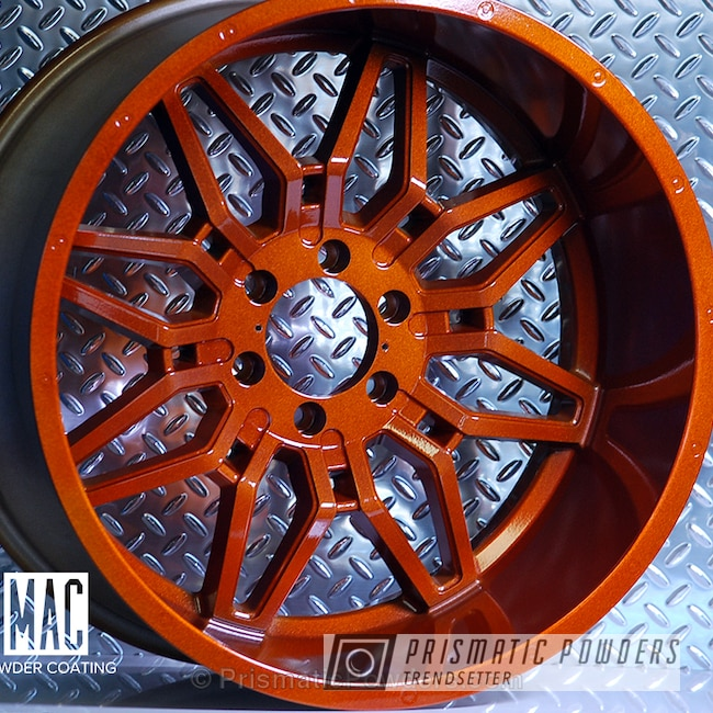 Powder Coating: Wheels,Automotive,Clear Vision PPS-2974,Havok Off-Road Wheels,Custom Wheels,Clear Coat Used,Solid Tone,Illusion Rootbeer PMB-6924
