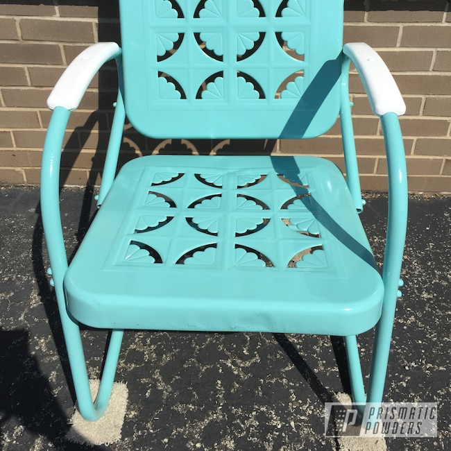 Powder Coating: Patio Chair,Gloss White PSS 5690,RAL 6027 RAL