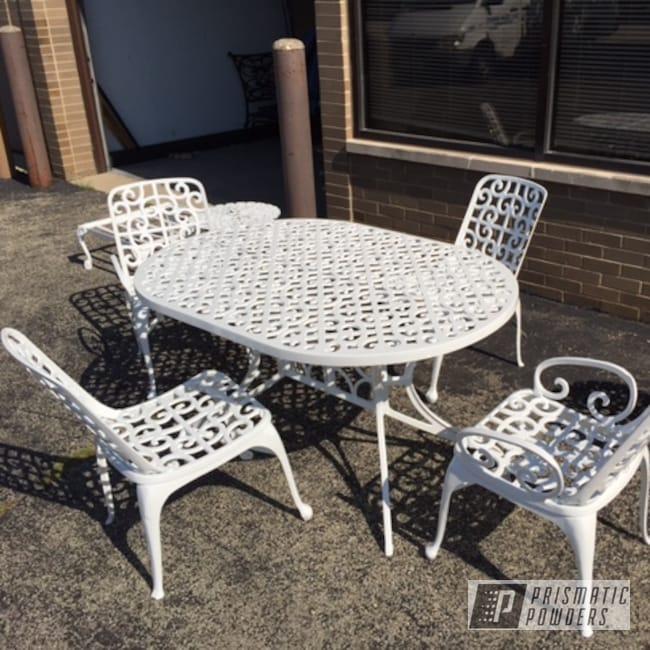Powder Coating: Patio Furniture,Low Gloss White PSB-6323