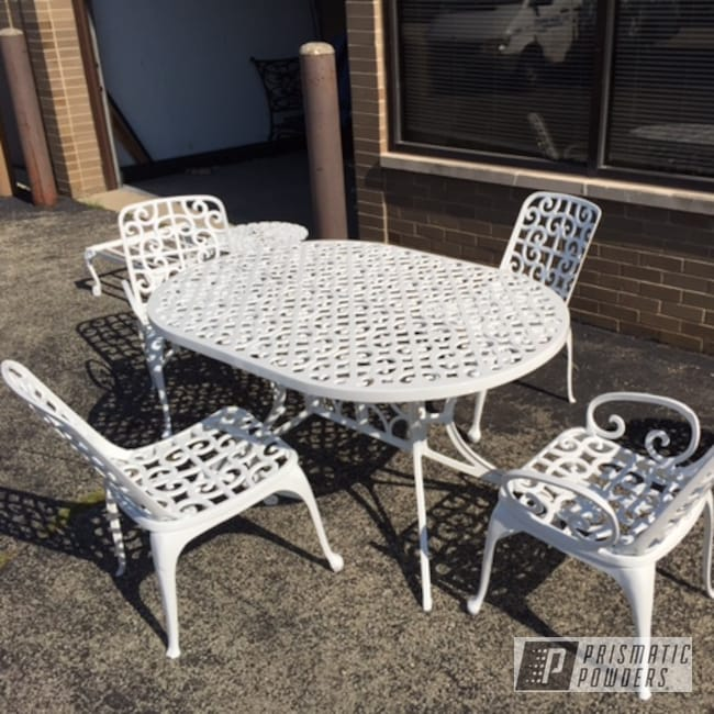 Powder Coating: Patio Furniture,Low Gloss White PSB-6323