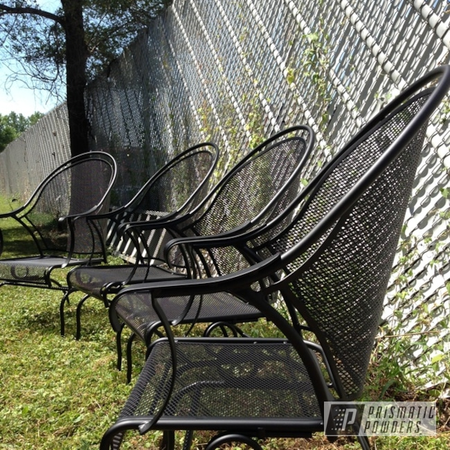 Powder Coating: Patio Furniture,Silk Satin Black HSS-1336