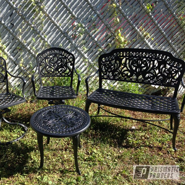 Powder Coating: Patio Furniture,Ironstone Silver Satin PLB-3144