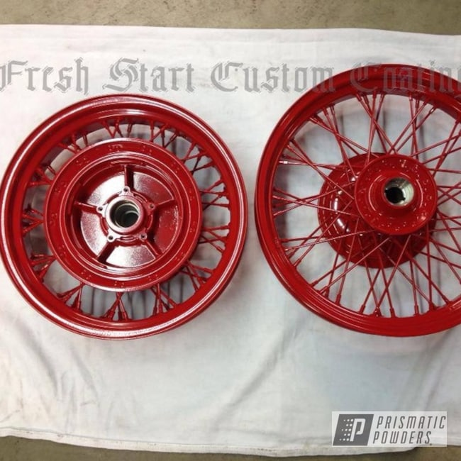 Powder Coating: Wheels,Powder Coated Motorcycle Wheels,Motorcycles,Astatic Red PSS-1738
