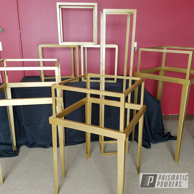 Powder Coating: Gold Bar Gold HMB-2225,Furniture