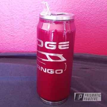 Customized Cup coated using Illusion Cherry and Clear Vision