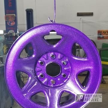 Purple Rims coated in Violet Sparkle over Super Chrome