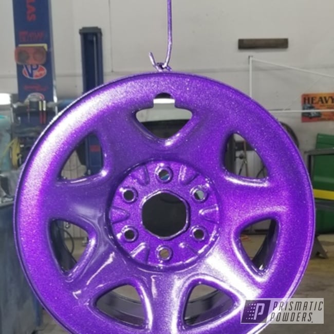 Purple Rims Coated In Violet Sparkle Over Super Chrome