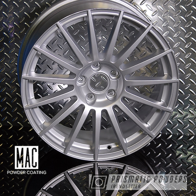 Powder Coating: Porsche Silver PMS-0439,Automotive,Custom Wheels,Audi Rims