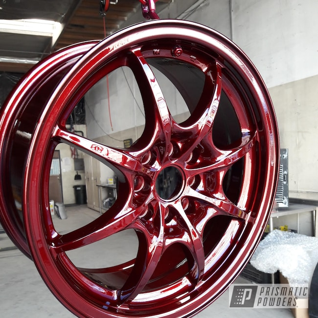 Powder Coating: Wheels,Automotive,Clear Vision PPS-2974,Custom Wheel,Clear Vision,Illusion Cherry PMB-6905