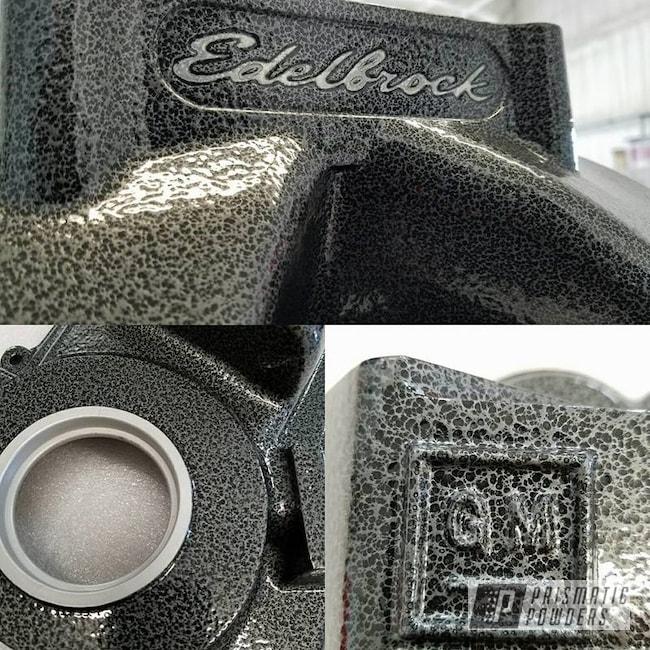 Powder Coating: Intake Manifold,Powder Coated Edelbrock Intake Manifold,Edelbrock,Clear Vision PPS-2974,Timing Cover,Edelbrock Intake,intake,Silver Artery PVS-3014,Powder Coated Intake Manifold