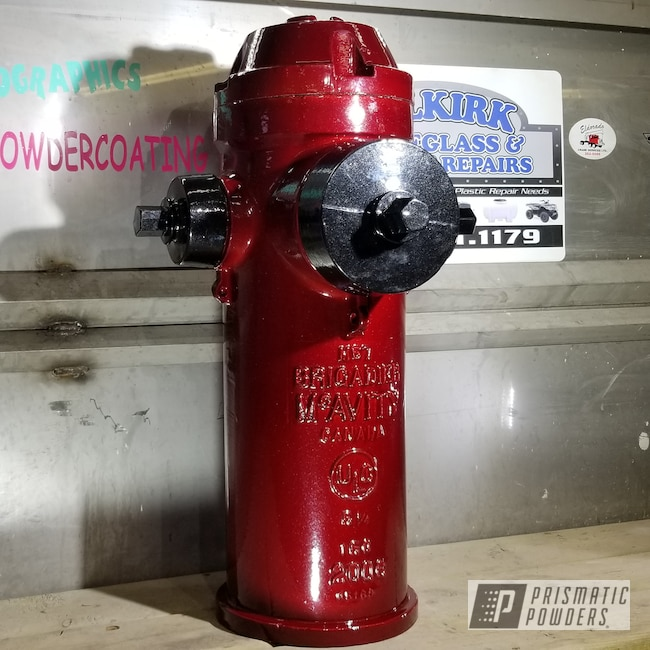 Powder Coating: DAZZLING RED UPB-1453,Powder Coated Fire Hydrant,SUPER CHROME USS-4482,Spiced Black PMB-4430,Miscellaneous
