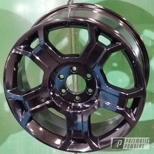 Powder Coating: Automotive,Rims,Ink Black PSS-0106