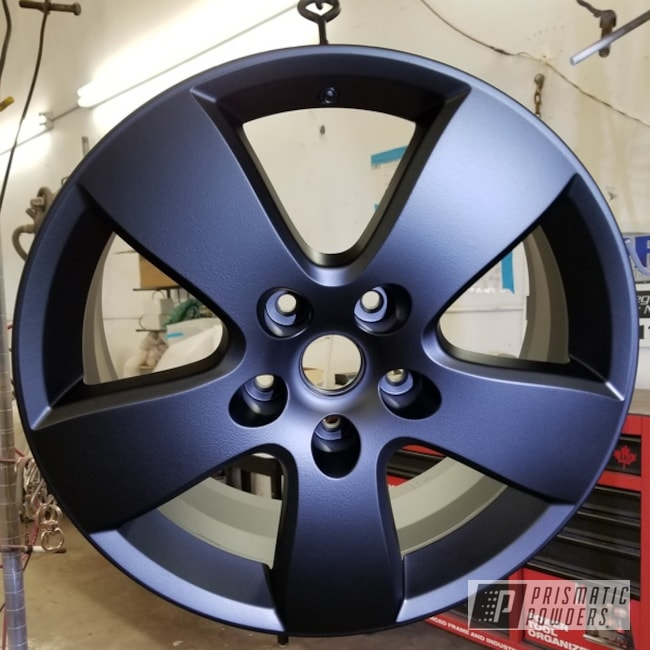 Powder Coating: Custom Rims,Flatter Black ESS-4441